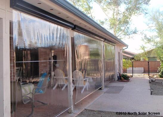 Grande Clear Vinyl Heavy Duty Outdoor Shades North Solar
