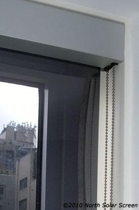 anodized fascia indoor solar shade