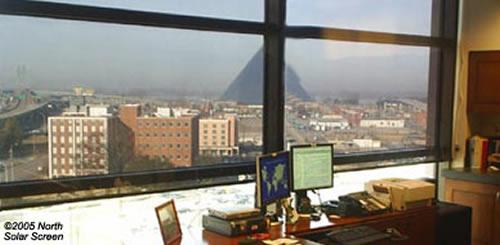 crystal view bronze indoor solar shade