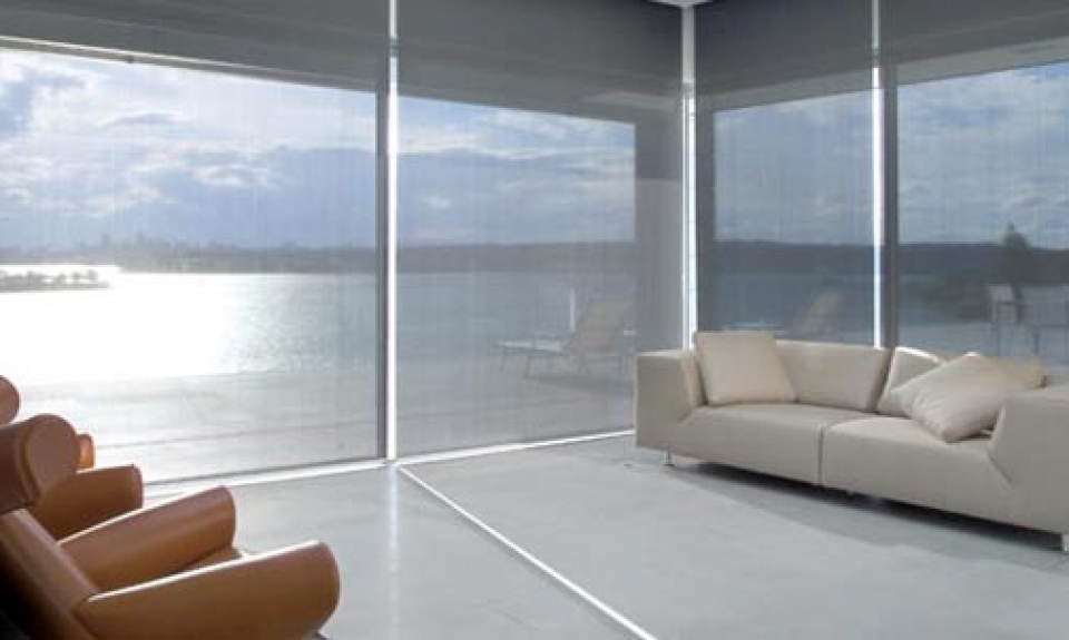 linen transparent indoor shade