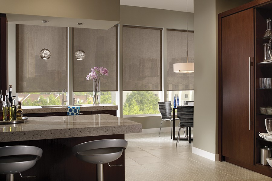 Linen Look Transparent Linen Indoor Solar Shades North
