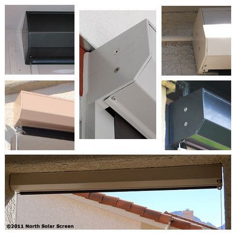 Housing boxes that protect the roller on outdoor shades