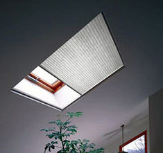 honeycomb cellular shades for a skylight