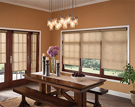 light filtering privacy shades on windows and doors
