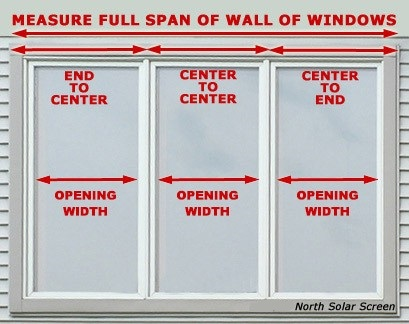 wall of windows for measuring
