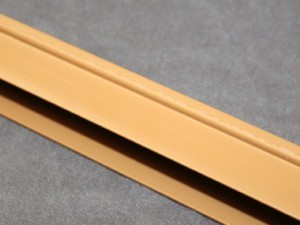Tan colored side track for cellular blackout light sealed