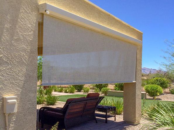 Large Heavy Duty Outdoor Solar Shades, Outdoor Deck Shades