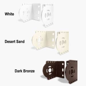 mounting brackets for outdoor exposed roller shades